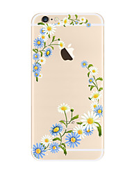 Pour Transparente Motif Coque Coque Arrière Coque Fleur Flexible PUT pour AppleiPhone 7 Plus iPhone 7 iPhone 6s Plus iPhone 6 Plus iPhone
