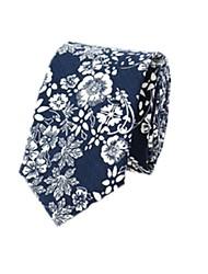 Cotton Collar Floral Printed Cotton 6cm Nnarrow Version Of Casual Tie