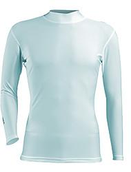 Hauts/Tops-(Blanc Gris Bleu) deGolf Sport de détente-Respirable àManches longues