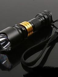 Lampes Torches LED LED Lumens Mode AAA Transport Facile Camping/Randonnée/Spéléologie Usage quotidien Extérieur Alliage d'aluminium