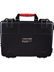 44 L Wasserdicht Staubdicht Stoßfest tragbar Multifunktions Hartschalenkoffer Schwarz