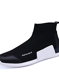 Men's Sneakers Socks Shoes Spring Fall Winter Comfort Patent Leather Outdoor Office & Career Casual Flat Heel Black/Red