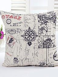 1 Pcs  Compass Decorative Pillow Cover