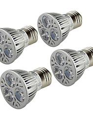 YouOKLight 4PCS E26/E27 3W 250LM AC85-265V 3*COB LED Warm White 3000K Light Spotlight - Silver
