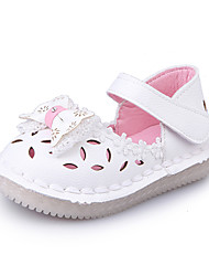 Girls' Sandals Spring Summer Flower Girl Shoes PU Wedding Outdoor Party & Evening Dress Casual Flat Heel Bowknot