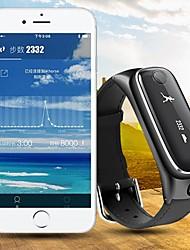 relógio pulseira inteligente&fone de ouvido bluetooth pulseira smartwatch relógio de pulso pedômetro rastreador atividade de fitness