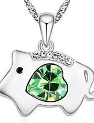 Women's Pendant Necklaces Crystal Animal Shape Chrome Cute Style Jewelry For Special Occasion Gift 1pc