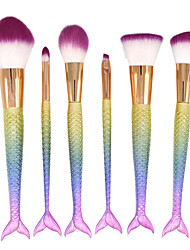 6 Contour Brush Makeup Brush Set Blush Brush Eyeshadow Brush Concealer Brush Powder Brush Foundation Brush Synthetic HairProfessional