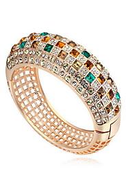 Mulheres Bracelete Jóias Amizade Moda Cristal Liga Forma Geométrica Jóias Para Aniversário