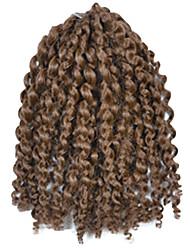1 Pack 8inch Dark Brown Curly Afro Kinky Mali Bob Braids Hair Extensions Kanekalon Hair Braids 30g (5-6packs/head)
