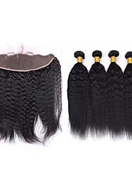Um Pacote de Solução Cabelo Peruviano 12 meses 4 Peças tece cabelo