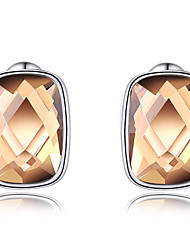 Women's Stud Earrings Crystal Euramerican Fashion Personalized Luxury Genuine Austrian Crystals Copper Gold Plated  Circle Jewelry