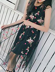 Signe une robe de gaze brodée 2017 nouvelle
