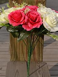 1 Ast Kunststoff Rosen Tisch-Blumen Künstliche Blumen 40*40*40