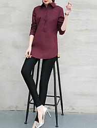 signe du printemps 2017 nouvelle chemise chemise support femme en coton blanc à manches longues sauvage loisirs coréen