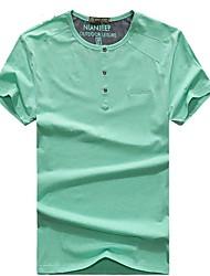 Homme Tee-shirt Pêche Respirable Perméabilité à l'humidité Eté Vert Bleu Rose claire
