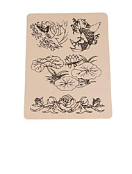 BaseKey 15PCS x Fish Tattoo Fake Skin For Tattooing Practice 15 x 20cm