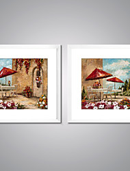 Framed Canvas Prints Garden Landscape Painting Picture Print on Canvas Contemporary Wall Art for Home Decoration
