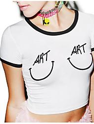 1701 modèles d'explosion # AliExpress irrégulière court t-shirt