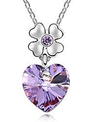 Femme Pendentif de collier Cristal Forme de Coeur Cœur Bijoux Pour