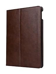 Pour Porte Carte Avec Support Veille/Déverrouillage Automatique Clapet Coque Coque Intégrale Coque Couleur Pleine Dur Cuir PU pour Apple