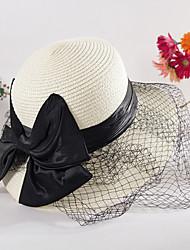 Femme Décontracté Paillette Chapeau de Paille Chapeau de soleil,Couleur Pleine Eté