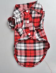 Pet Plaid Shirt Pet Clothes Dog Spring And Summer Clothes Foreign Trade Dog Clothes