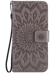 For SONY XZ XPerformace Card Holder Wallet Flip Embossed Case Full Body Case Sunflower Hard PU Leather for XA E5 X M5 M4 M2 XA Ultra Z5 Z5mini Z4 Z3