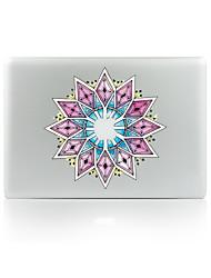 For MacBook Air 11 13/Pro13 15/Pro With Retina13 15/MacBook12 Purple Flower Decorative Skin Sticker Glow in The Dark