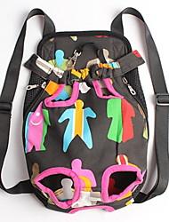 Chat Chien Sac de transport Sac à dos avant Animaux de Compagnie Paniers Portable Mignon Multicolore Tissu