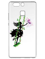 Para Transparente Estampada Capinha Capa Traseira Capinha Brincadeira Com Logo da Apple Macia TPU para HuaweiHuawei P9 Huawei P9 Lite