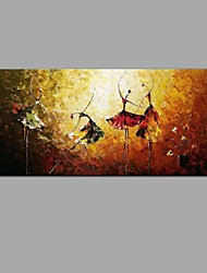 Pintados à mão Abstrato Vida Imóvel Horizontal,Clássico Estilo Europeu 1 Painel Tela Pintura a Óleo For Decoração para casa