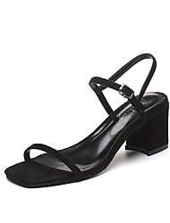 Women's Sandals Summer Slingback Club Shoes Gladiator PU Office & Career Dress Casual Chunky Heel Buckle