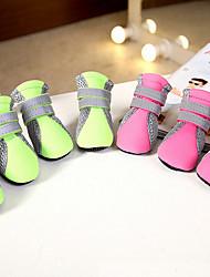 Gatos Cães Sapatos e Botas Fofo Da Moda Casual Esportivo Amor Verde Rosa claro Tecido