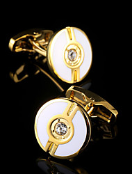 Men's Jewelry Shirt Fashion Gold cufflinks for mens Brand Crystal Cuff link Male Luxury Wedding Gifts Cuff Buttons