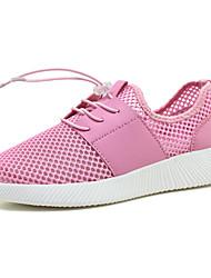 Da donna-Sneakers-Tempo libero Sportivo Casual-Comoda pattini delle coppie-Piatto-Tulle-Grigio chiaro Verde Rosa