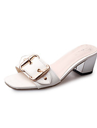 Damen-Sandalen-Lässig Kleid-PU-Blockabsatz-Komfort-
