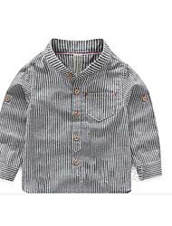 Casual/Daily Geometric Shirt,Cotton Summer