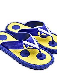 Men's Slippers & Flip-Flops Slingback Rubber Summer Casual Flat Heel Yellow Brown Pool 1in-1 3/4in