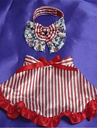 Dog Dress Dog Clothes Summer Stripe Cute