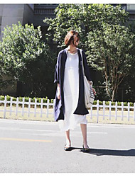 Nett ~ Awesome casual style casual textured dark blue long coat comfort
