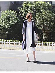 Nett ~ incrível casual estilo casual texturizado azul escuro longo casaco conforto