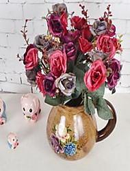 1 Une succursale Fibre Roses Fleur de Table Fleurs artificielles 30*30*30