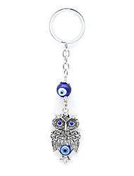 Key Chain Bird Key Chain Blue Silver Metal