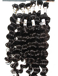 5Pcs/Lot Unprocessed Human Hair Weave Bundles Brazilian Virgin Deep Wave Curly Extensions Hair Free Tangle