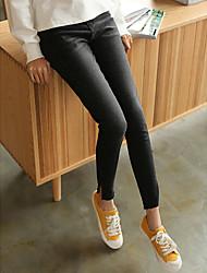 unterzeichnen gewaschen schwarze Stretch-Hosen Füße dünne Denimhose Split