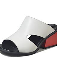 Women's Sandals Spring Comfort PU Outdoor Flat Heel Low Heel