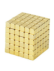 NEWSPOON Magnet Toys 216pcs 5mm Magnet Toys Neodymium Magnet Executive Toys Puzzle Cube DIY Toys Golden Magnetics Cube Education Toys For Gift