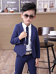 Boys' Formal Going out Casual/Daily Solid Sets,Cotton Spring Clothing Set