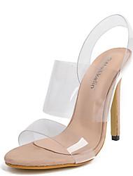 Women's Sandals Summer Club Shoes Rubber Dress Stiletto Heel Buckle